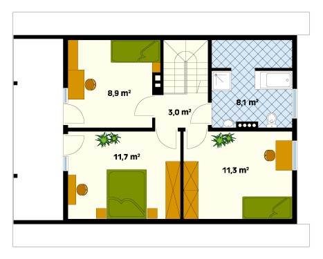 Jaśmin 2 first floor plan