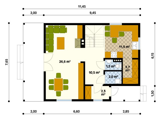Jaśmin 2 ground floor plan