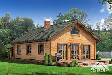 Projects of houses from logs