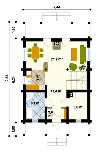 Konwalia drewniana 2 Ground floor plan